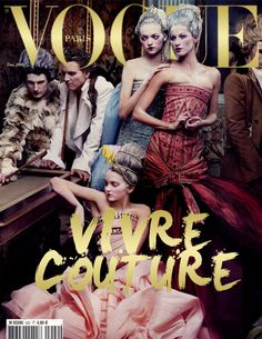Vogue Paris, December 2009 #cover | Vivre Couture by Annie Leibovitz