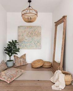 Home Yoga Room, Yoga Room Decor, Yoga Studio Home, Meditation Room Decor, Meditation Corner, Meditation Space, Bedroom Decor, Yoga Meditation, Wall Decor