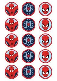 Resultado de imagem para free printable cupcake wrappers and toppers with spiderman Spiderman Theme Party, Spiderman Party Supplies, Spiderman Stickers, Spiderman And Frozen, Cupcake Images, Bottle Cap Images, Bottle Caps, Cakes For Men, Cupcakes