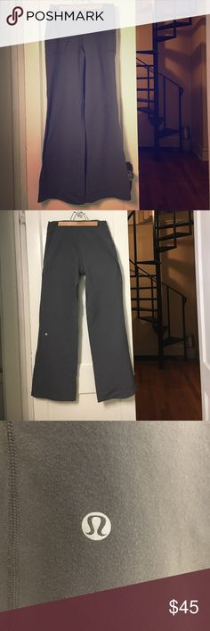 Lululemon Be Still Pants in Gray 🙏🕉 Size 6; EUC. These pants will make you happy to meditate! Made entirely of lulu's patented Luon fabric (just like your favorite Wunder Unders) these wide-legged pants are a favorite for going from home to Om to wherever life takes you 😊🙌🙏 Light pilling in the gusset, as shown. All my closet items come from a clean, smoke-free home, and are in excellent, hardly-used condition. Ask me about trades! No low-ballers, plz! lululemon athletica Pants Wide Leg