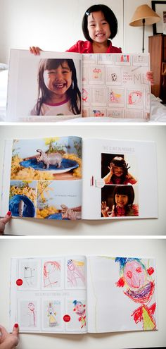 some good ideas on this site for kids' art display and storage (russian lang. site)