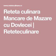 Reteta culinara Mancare de Mazare cu Dovlecei | Reteteculinare Zucchini, Squashes