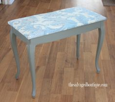 piano bench makeover | The Salvaged Boutique