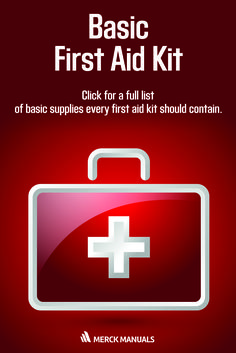 The medicine chest or first-aid kit should be kept well stocked and should be restocked every 6 months. This site lists the basic supplies that are useful to have on hand.