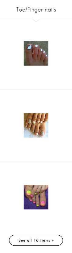 """""""Toe/Finger nails"""" by aw1819 ❤ liked on Polyvore featuring nails, beauty products, nail care, nail treatments, shoes, summer shoes, peep-toe shoes, summer footwear, peep toe shoes and peeptoe shoes"""