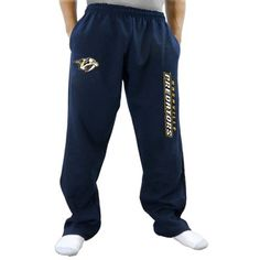 Nashville Predators Two Hit Fleece Pants - Navy Blue