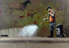Banksy - Subversive Anti-Establishment Messages, Spiced with Humour and Irony - Censorship of Art is wrong, Art is for enjoyment of all, not to be Censored by the few !
