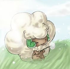 Whimsicott — am I the only one who catches this thing? If it's male I name it Hufflepuff ((in honor of one of my friends' favorite books))) and if it's female I name it Cottonelle ((because of the softness))...!! XD
