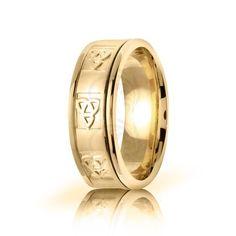 10k Yellow Gold Celtic Trinity Knot Wedding Band Polish 8mm 01659