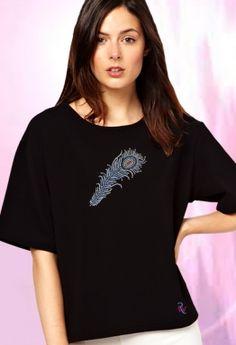 Bride Feather in Sapphire  Rhinestones T Shirt-Transfers Price: $22.99