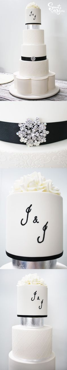 Silver Leaf Is The Perfect Wedding Cake Companion