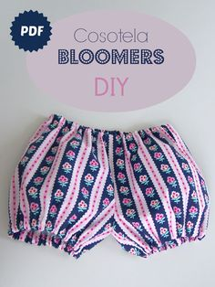 cosotela: Cosotela Bloomers size 2 with free pdf pattern ( free ) ( fb ) Toddler Sewing Patterns, Baby Dress Patterns, Baby Clothes Patterns, Sewing For Kids, Clothing Patterns, Toddler Girl Outfits, Toddler Fashion, Kids Outfits, Kids Fashion