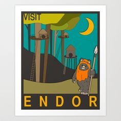Visit Endor Art Print by Jazzberry Blue - $19.00