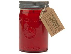 Paddywax candles for styling & Restroom Pomegranate & Spruce Jar Candle 9.5 oz
