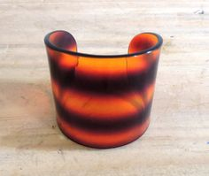 Amazing Tortoise Vintage Lucite Cuff by theavintage on Etsy, $42.00