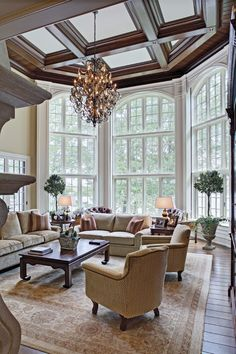 Love the floor to ceiling bay windows - we should use a lot of this in the design to let in light and create atmosphere of air. It still fits in with a traditional look too.