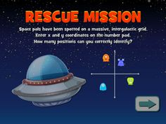 Rescue Mission - Space pals are positioned on an intergalactic grid. Can you relay the coordinates to mission control? Geometry Games, Area And Perimeter, Mission Control, Math Games, Grid, Activities, Space, Floor Space, Spaces