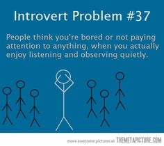Introverts. We take it ALL in.