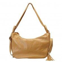 yellow / orange / black / khaki / apricot leather convertible backpack shoulder handbag bag for women