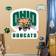 NCAA Ohio Bobcats Logo Wall Graphic ** Continue to the product at the image link.