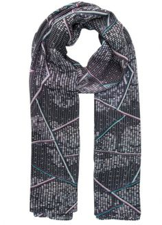 Silver Plate Cashmere Blend Scarf