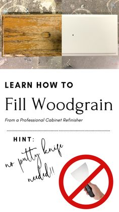 Learn to Fill Woodgrain: Insider Tips From a Pro – Painted by Kayla Payne Painting Oak Cabinets, Wood Cabinets, Furniture Painting Techniques, Painting Tips, Furniture Makeover, Diy Furniture, Painted Furniture, Furniture Refinishing, Grain Filler