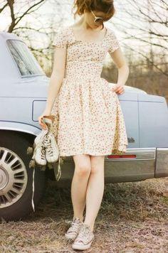 dress + chucks