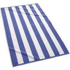 Cabana Stripe Beach Towels | Royal Blue