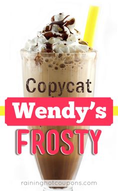 Copycat Wendys Frosty from Raining Hot Coupons is a great way to beat the heat this summer!