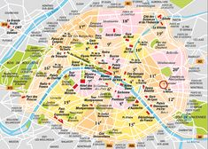 Paris Major Landmarks • click on image to enlarge