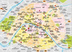 Paris Major Landmarks • click on image to enlarge
