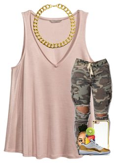 """""""yeah yeah ."""" by qveenkyndall16 ❤ liked on Polyvore featuring H&M, Forever 21 and Gogo Philip"""