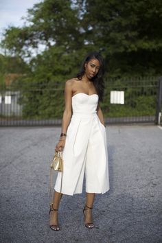Love the culotte jumpsuit!
