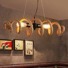 New Vintage Loft Corde Pendentif Lumières Creative Main Pendentif Lampes Bar Restaurant suspension luminaire Maison Luminaire(China (Mainland))