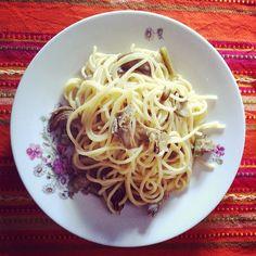 artichokes spaghetti.