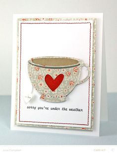 Tea Cup Card *Card Kit Only* by JulieCampbell at @studio_calico