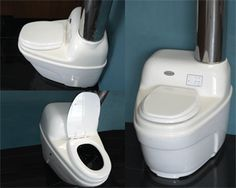 """""""This is my choice of toilet.  In the the US this is called the """"Incinerator"""".  waterless self-contained toilet that incinerates the waste into a sterile ash that needs to be emptied periodically."""" -- Anonymous"""