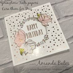 The Craft Spa - Stampin' Up! UK independent demonstrator : Fancy Fold Friday Tutorial for Large Square Pop Out Swing Card - The Fully Opening version...