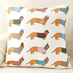 Larry the Long Dog Pattern Cushion by Mary Kilvert