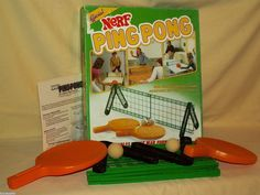 Ping Pong Table Nerf Tennis Official Parker Brothers 1982 Complete No 0273 Game