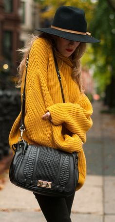 very large sweaters (especially in cool hues - like mustard)