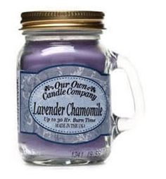 Lavender Chamomile RELAX enjoy bath time - Soy Candle super cute mini Mason Jar Candle Companies, Burning Candle, Simply Beautiful, Mason Jars, Great Gifts, Good Things, Candles, Gift Ideas, Mugs