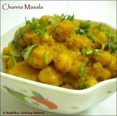 Channa Masala / Curried Garbanzo Beans