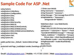 How do I integrate Bulk SMS Gateway API in ASP dot net application