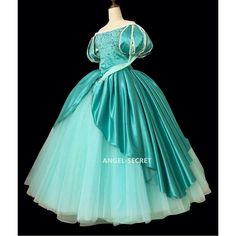 Ariel mermaid Cosplay Costume Dress tailor made women princess green gown from angel-secret Ariel Cosplay, Mermaid Cosplay, Cosplay Dress, Cosplay Outfits, Costume Dress, Cosplay Costumes, Disney Princess Halloween Costumes, Ariel Costumes, Ariel Dress