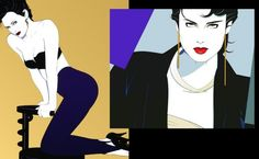 Patrick Nagel 80s Fashion Illustrations by pam