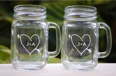 Tablescape, Rustic/Barn Wedding Ideas for Bridesmaids Groomsmen Parents and Planners, Mason Jar Mugs