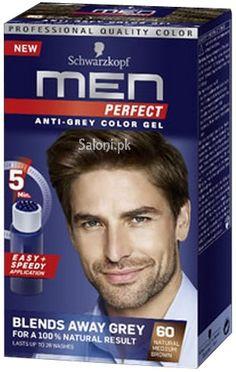 schwarzkopf men perfect anti grey color gel natural medium brown 60 - Coloration 60