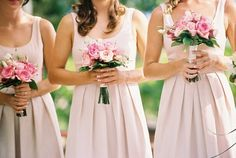 Pink is the most popular color for bridesmaid and flower girl dresses. If your wedding color is pink, then pink bridesmaid dresses will be your best choice. Pink Bridesmaid Dresses Uk, Dusty Pink Bridesmaid Dresses, Wedding Bridesmaids, Wedding Dresses, Pink Dresses, Wedding Styles, Wedding Ideas, Wedding Colors, Wedding Flowers