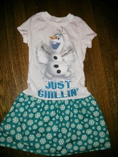 SALE Blue and White Snowflake Frozen Olaf Snowman by RSquaredShop
